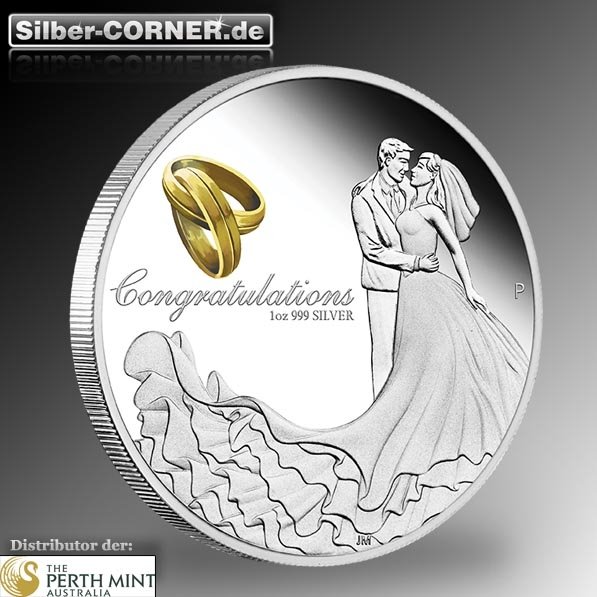 Wedding 2019 1 Oz Silber Proof *