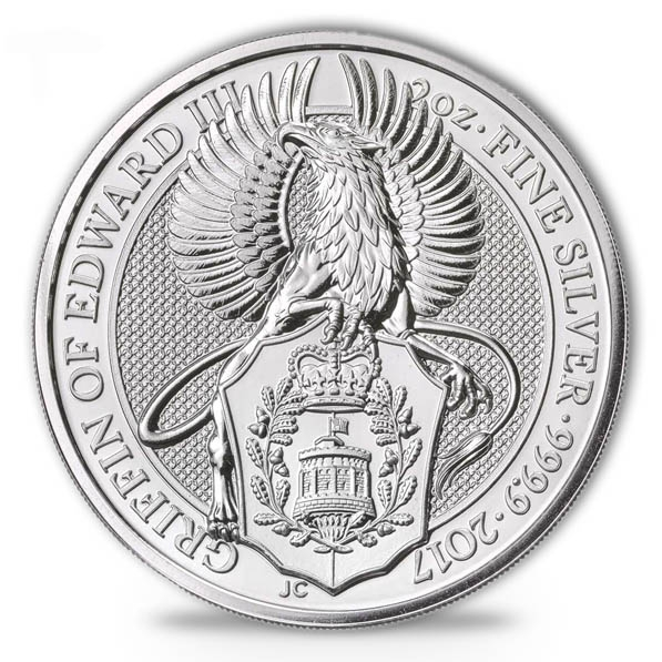 Queen´s Beast - Griffin - 2 Oz Silber *