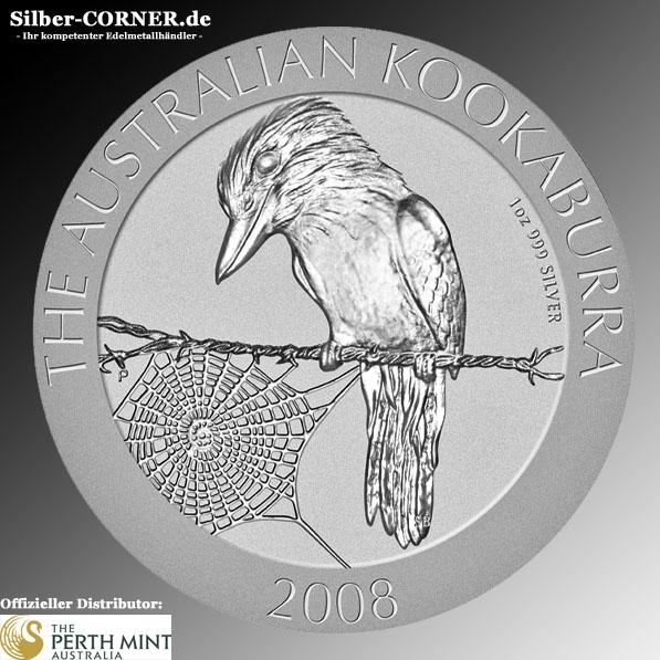 2008 1 Unze Kookaburra