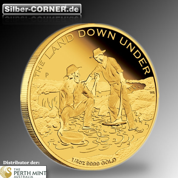 The Land Down Under 1/4 Oz Gold Proof Gold Rush + Box+CoA*