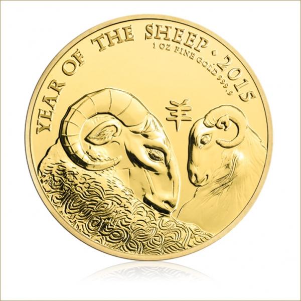 Lunar Schaf 1 Oz Gold UK - Royal Mint