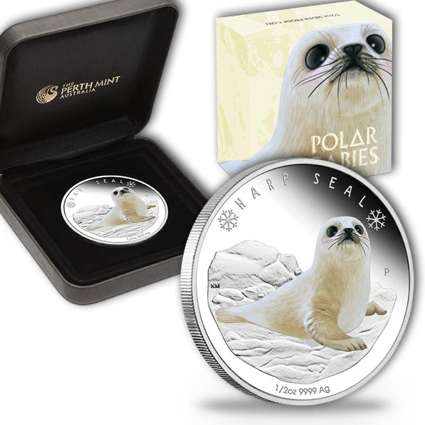 Polar Babies - Harp Seal - 1/2 Oz Silber Proof *