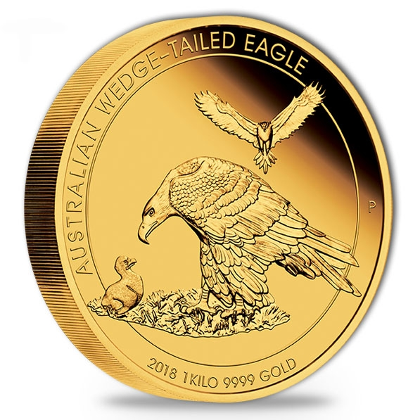 Wedge Tailed Eagle - 1 KG Gold Proof 2019 + Box + COA