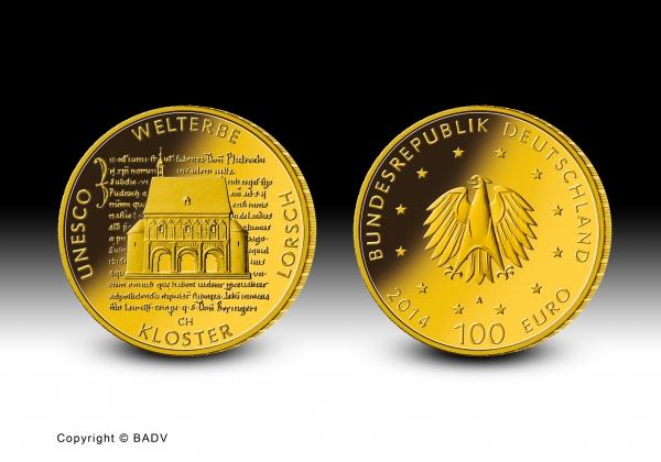 100 Euro 1/2 Oz Gold Kloster Lorsch 2014
