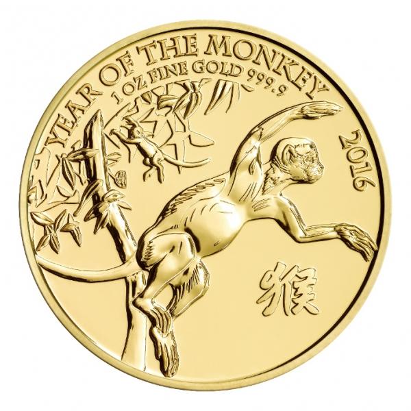 Lunar Affe 1 Oz Gold UK - Royal Mint