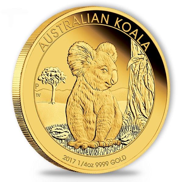 Australien Koala 1/4 Oz Gold Proof 2017 + Box + COA