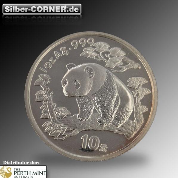 China Panda 1997 1 Oz Silber in Ersatzkapsel*