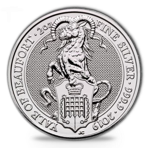 Queens Beast Yale of Beaufort 2 oz Silber 2019*