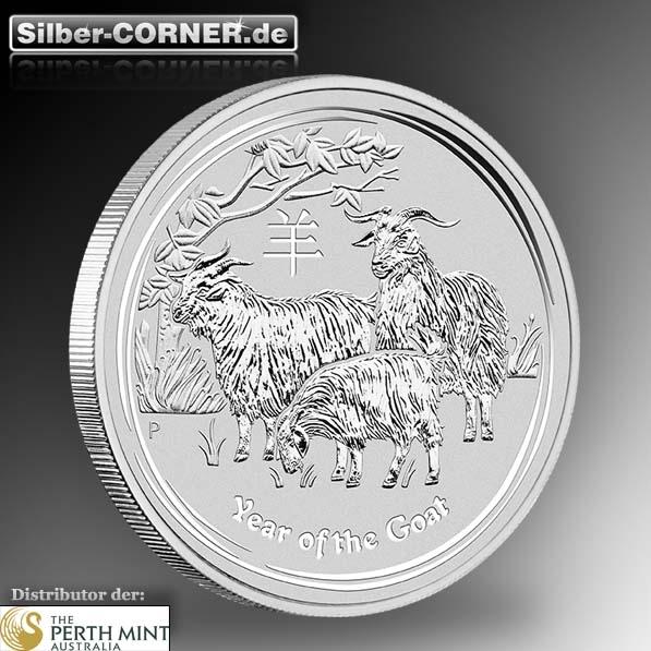 2 Oz Lunar Ziege 2015 Silber