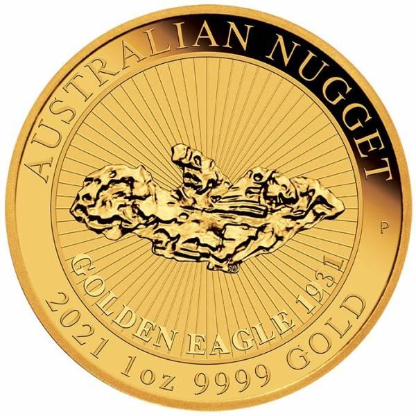 Australian Nugget - Golden Eagle - 1 Unze Gold 2021