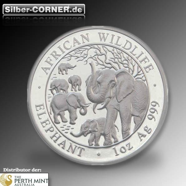 Somalia Elefant Silber 1 Oz div Jahrgänge 2.Wahl *