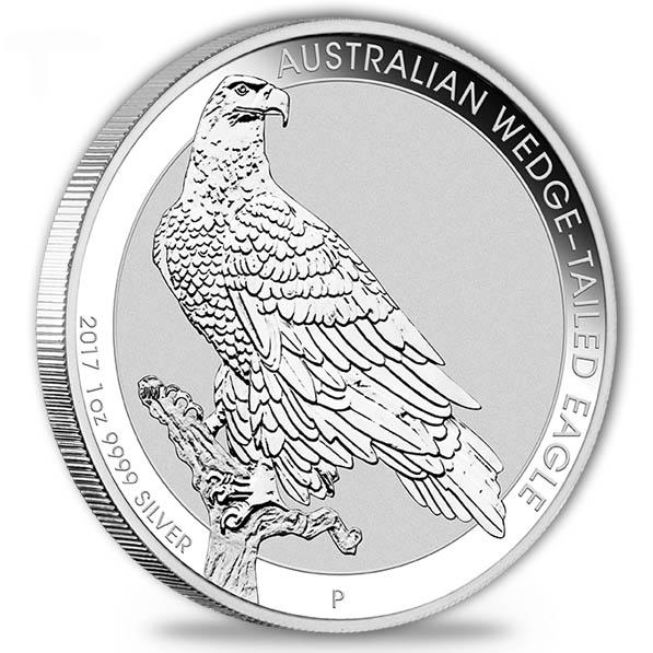 Australien Wedge Tailed Eagle 1 Oz Silber 2017*