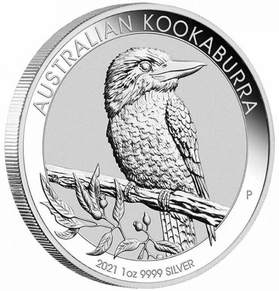 Kookaburra 1 Unze Silber 2021 Münze