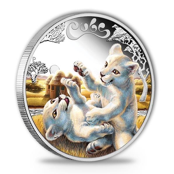 The Cubs - White Lion - 1/2 Oz Silber Proof +Box +COA*