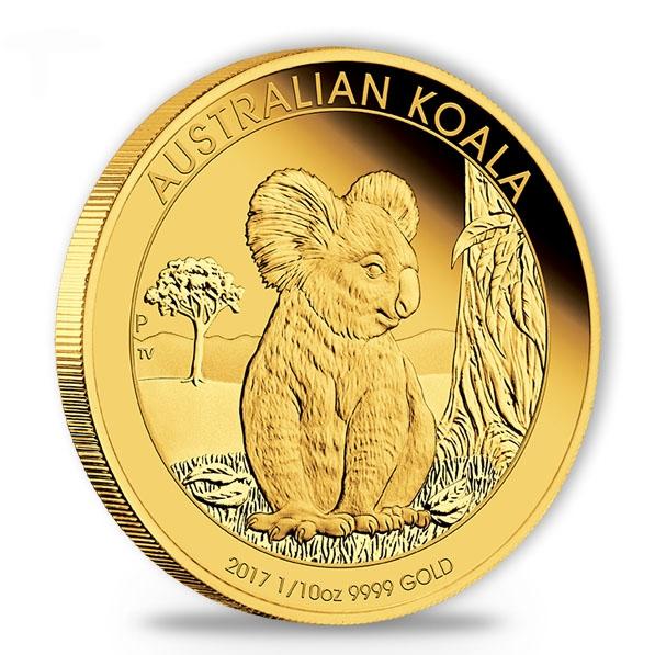 Australien Koala 1/10 Oz Gold Proof 2017 + Box + COA