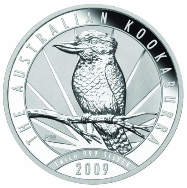Kookaburra 1 KG Silbermünze 2009
