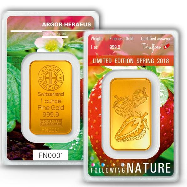 Following Nature 1- Frühling - 1 Oz Gold 2018