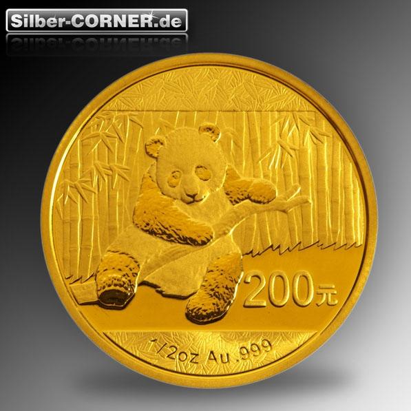 Vorderseite 1/2 Oz Gold Panda 2014