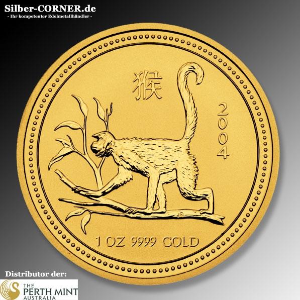 Lunar Affe 2004 1 Oz Gold