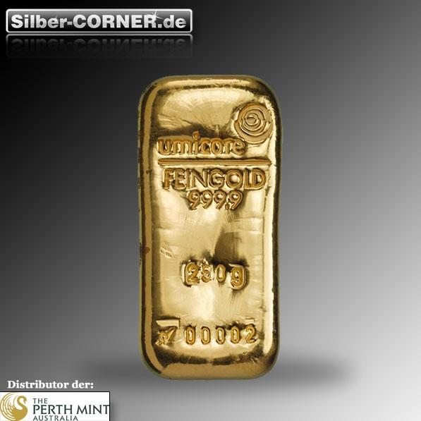 250 Gramm Goldbarren Umicore