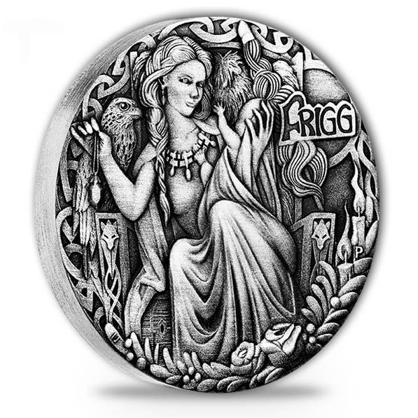 Norse Godesses - Frigg - 2 Oz Silber Antik Finish