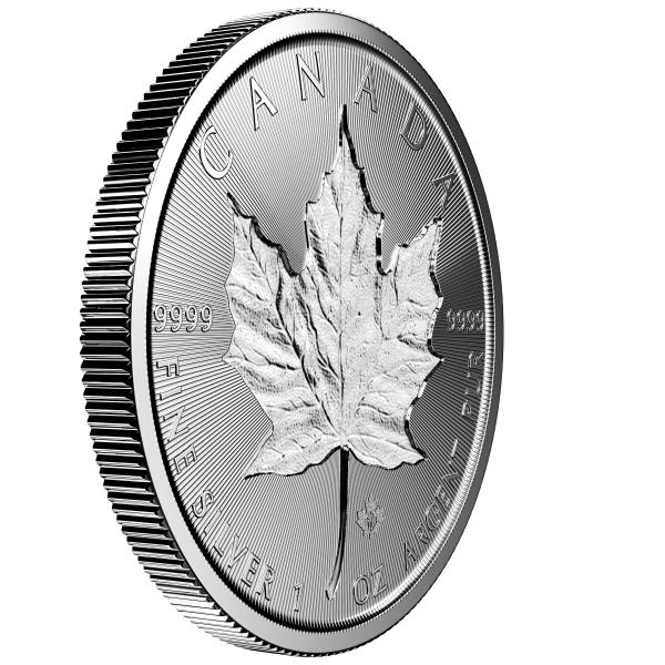 1 Oz Silber Incuse Maple Leaf 2019*