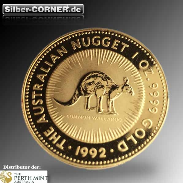 Australien Nugget 1992 1 Oz Gold