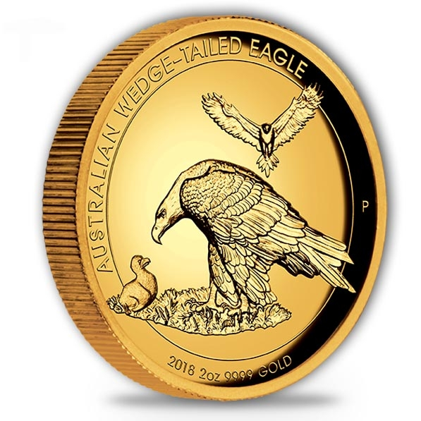 Wedge Tailed Eagle 2 Oz Gold High Relief 2018 +Box +COA