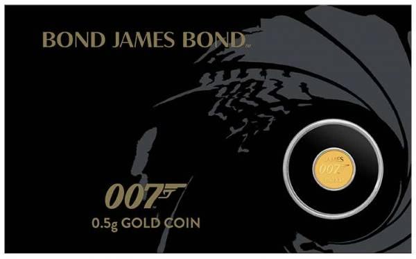 James Bond 007 0,5 Gramm Gold 2020