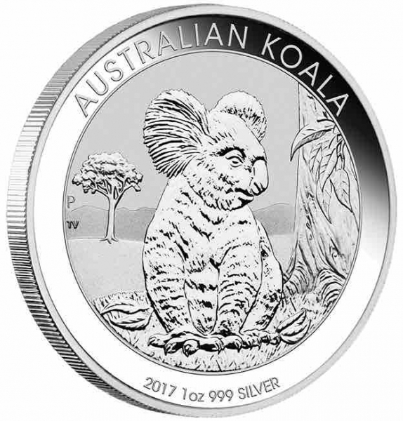 Australien Koala 1 Unze Silbermünze 2017
