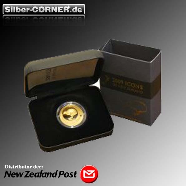 Kiwi 2009 1/4 Oz Gold Proof + COA + Box