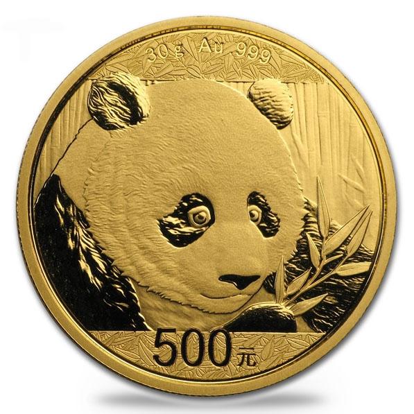 China Panda 30 Gramm Gold 2018