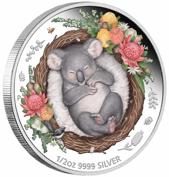 Dreaming Down Under - Koala - 1/2 Unze Silber Proof + Box +COA*