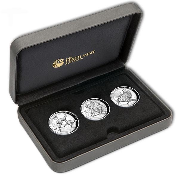 High Relief 2018 - Three Coin Set 2018 +Box +COA *