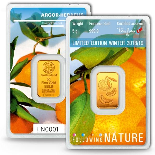 Following Nature - Winter - 5 Gramm Gold 2018/2019