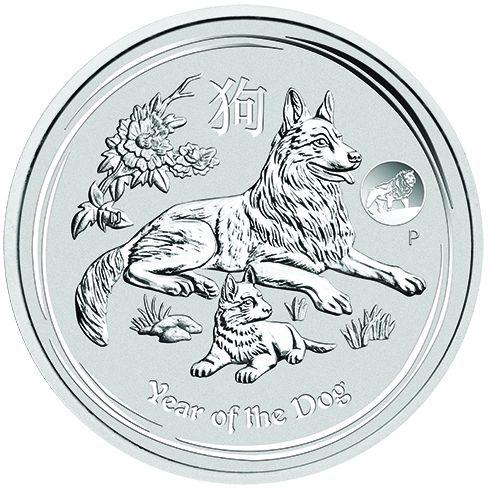 Lunar II Privy Mark Hund 1 Oz Silber 2018 *