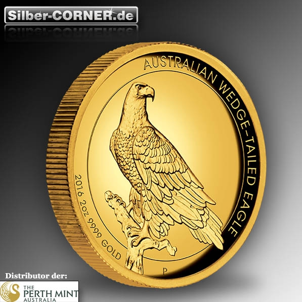Wedge Tailed Eagle Gold 2 oz High Relief 2016.