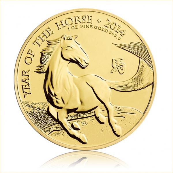 Lunar Pferd 1 Oz Gold Royal Mint