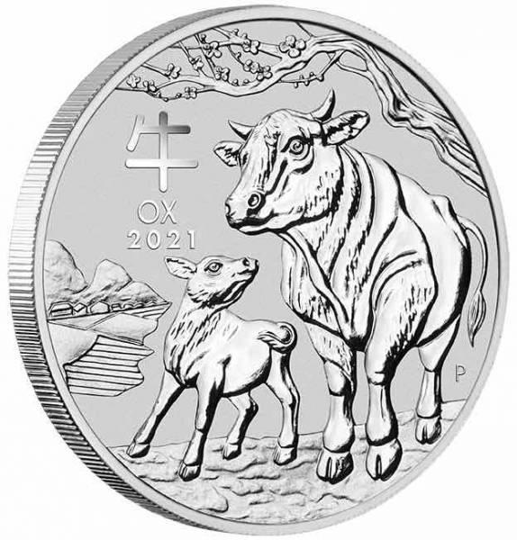 Lunar Ochse 1 Unze Silber 2021