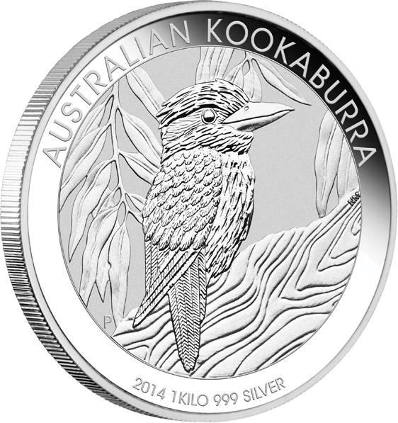 Kookaburra 1 KG Silbermünze 2014