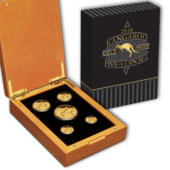 Australien Känguru 2018 Gold Proof 5-Coin Set