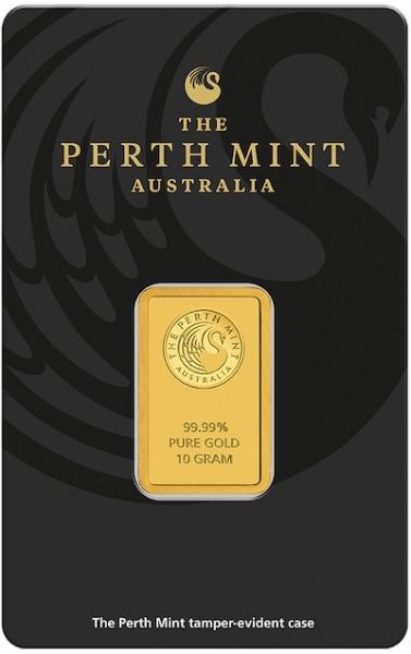 Perth Mint 10 Gramm Goldbarren Känguru