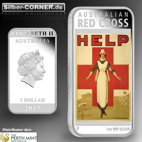 Australian Posters of War - Red Cross 1 Oz Silber Proof *