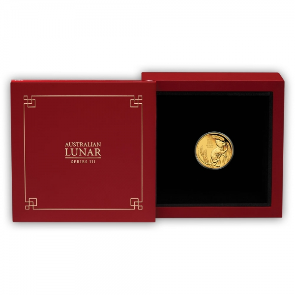 Lunar 3 Maus 1/10 Oz Gold Proof 2020