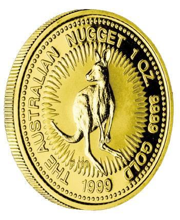 Australien Nugget 1 Unze Gold 1999