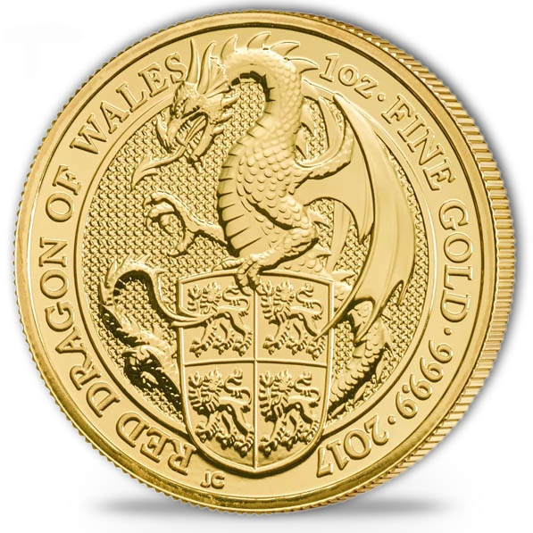 Red Dragon of Wales 1 Oz Gold