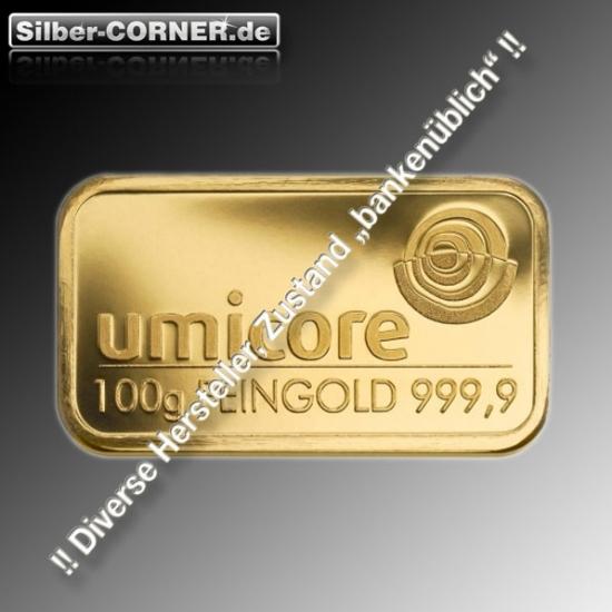 Goldbarren 1 Gramm diverse Hersteller