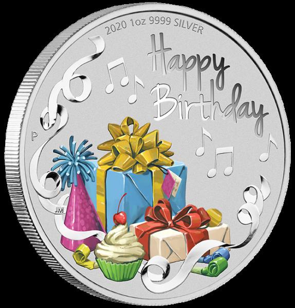 Happy Birthday 1 Oz Silber 2020 + Präsentationsbox *
