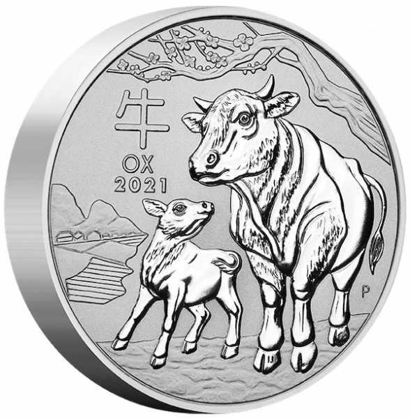 Lunar 3 - Ochsen - 10 KG Silber 2021 *