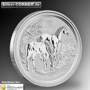 10 Oz Lunar Pferd in Silber